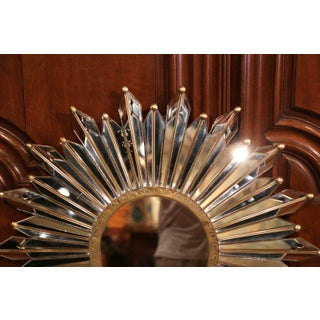 Early 20th Century French Brass Sunbust Mirror With Glass Beams From Paris Preview