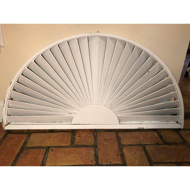 Antique Architectural Demilune Sunburst Window Fragment For Sale - Image 4 of 13
