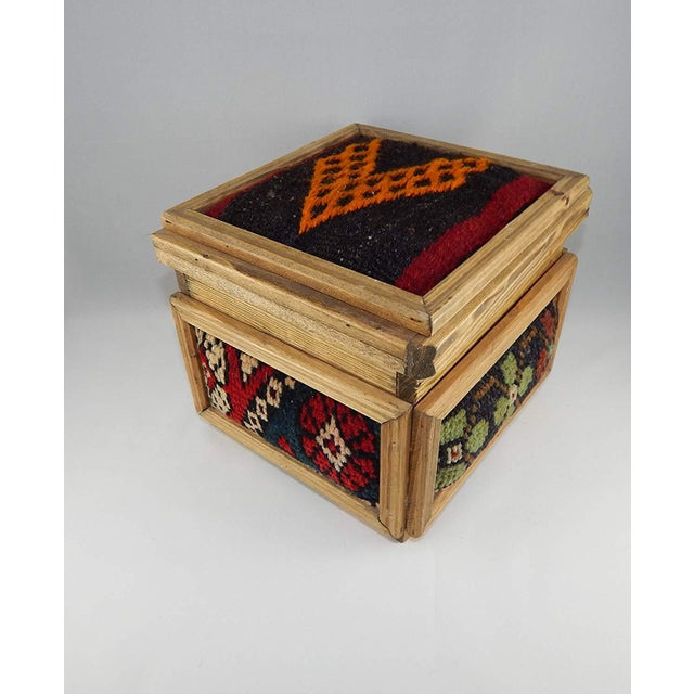 253e160d4 Vintage Kilim Chest, Handmade Wooden Unique Box, Gifts For Women, Jewellery  Box,