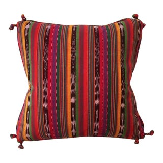 Guatemalan Striped Pillows - A Pair For Sale