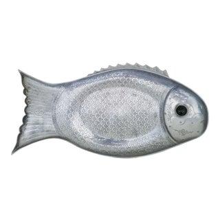 1970s Vintage Arthur Court Aluminum Fish Tray For Sale