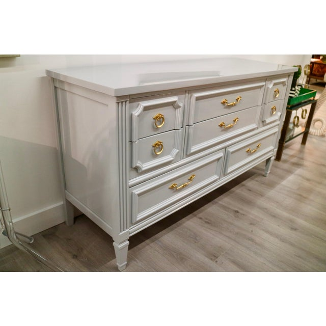 Vintage Grey Custom Lacquered Chest - Image 5 of 7
