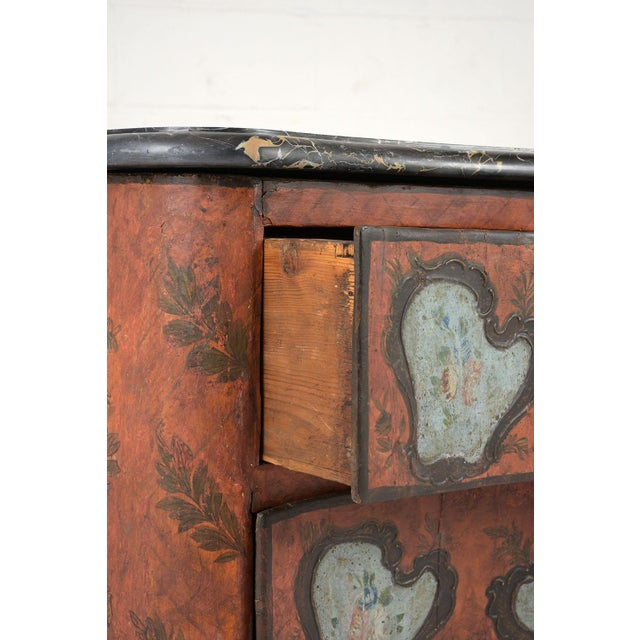Black Late 18th Century Polychrome Chest of Drawers For Sale - Image 8 of 13