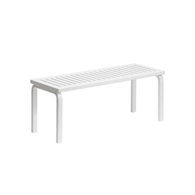 Mid-Century Modern Scandinavian Modern Alvar Aalto for Artek Black Lacquer Bench For Sale - Image 3 of 6