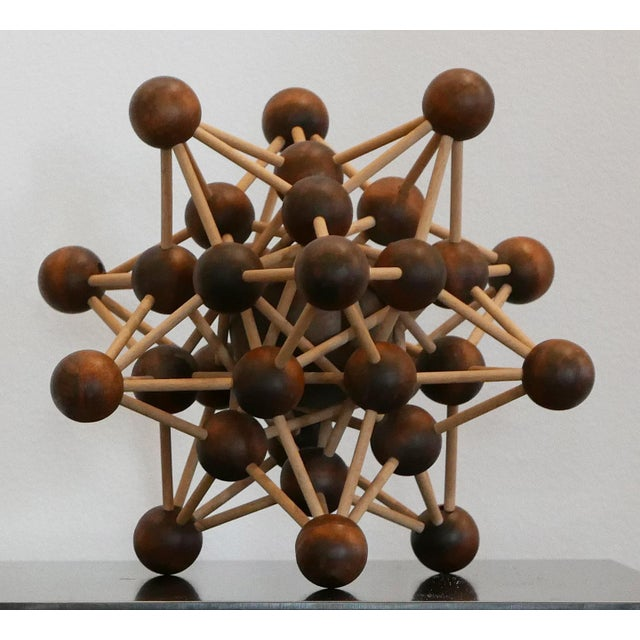 Vintage Molecular Wood Model Many of these were used as a teaching tool molecules. It has a biomorphic structure with...