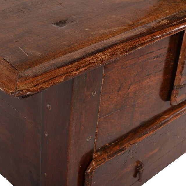 Brown Antique Brazilian Two-Drawer Chest For Sale - Image 8 of 8