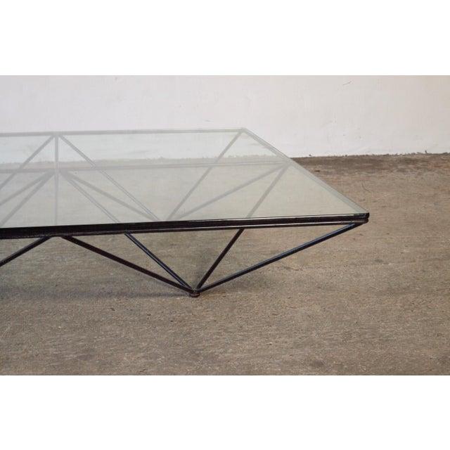 Black Paolo Piva Alanda Geometric Glass Coffee Table for B&b Italia, 1980s, Italy For Sale - Image 8 of 13