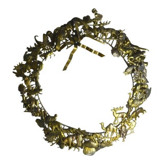 Holiday Petite Choses Brass Wreath For Sale
