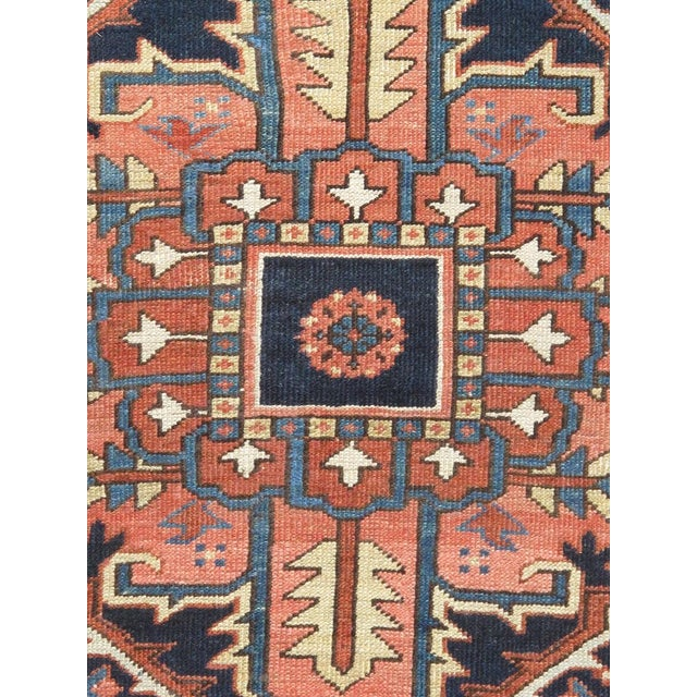 "Antique Persian Heriz Rug- 11'2"" x 15'3"" For Sale - Image 4 of 6"