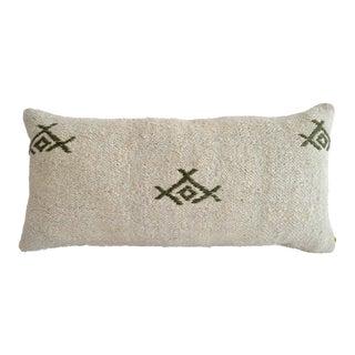 Lumbar Kilim Pillow Cover. 100% Natural Hemp Pillow Turkish Rug Throw - 13ʺ X 26ʺ For Sale