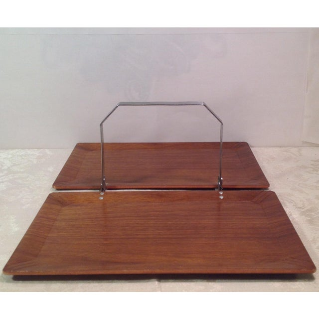 Mid-Century Modern Vintage Folding Serving Tray - Image 2 of 10
