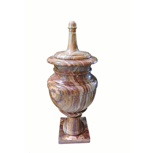 Carved Marble Pakistani Lidded Urn For Sale In San Francisco - Image 6 of 6