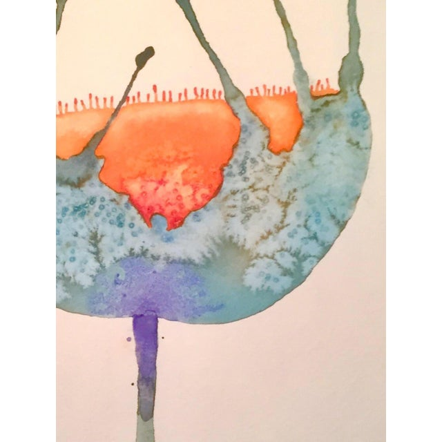 """""""Blue Buttercup"""" Original Watercolor Painting - Image 2 of 2"""
