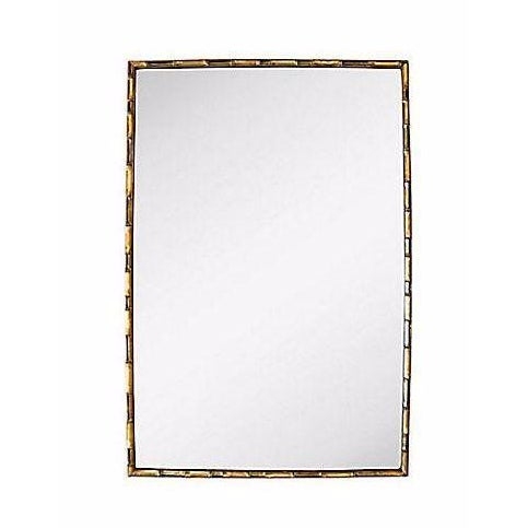 Vintage Gold Faux Bamboo Wall Mirror - Image 1 of 4
