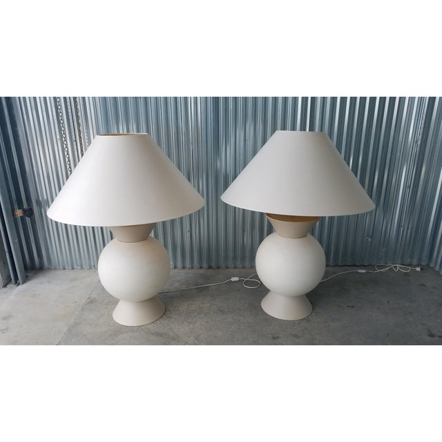 French Jacques Molin Bulbous Futuristic Table Lamps - A Pair For Sale - Image 9 of 9