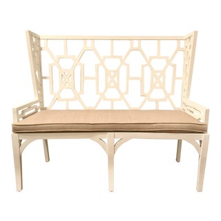 Guildmaster White Chippendale Lifestyle Loveseat For Sale