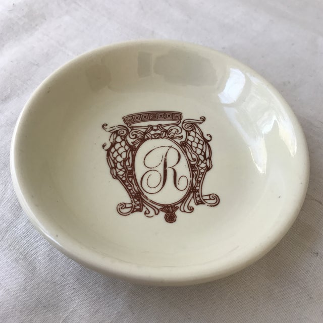 Victorian Monogrammed Accent Dish For Sale - Image 3 of 5