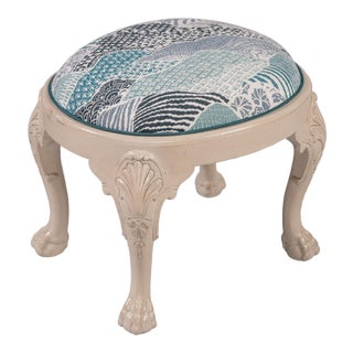 Custom Madcap Cottage Stool For Sale
