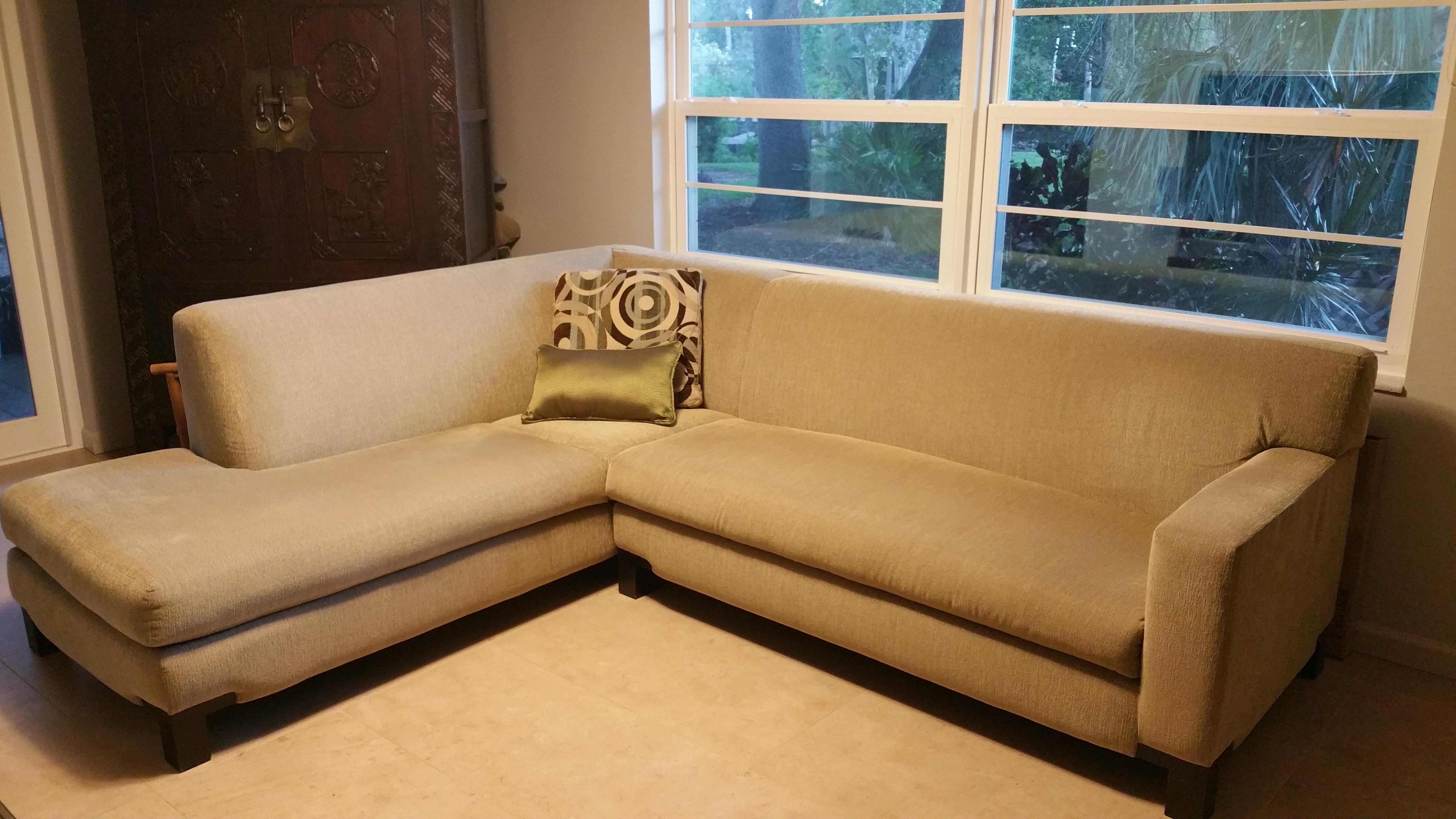 Large Modern Transitional Sectional Sofa Or Chaise For Sale In Tampa    Image 6 Of 9