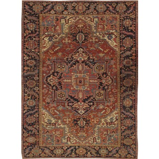 Pasargad Antique Persian Heriz Rug - 9′ × 12′ For Sale
