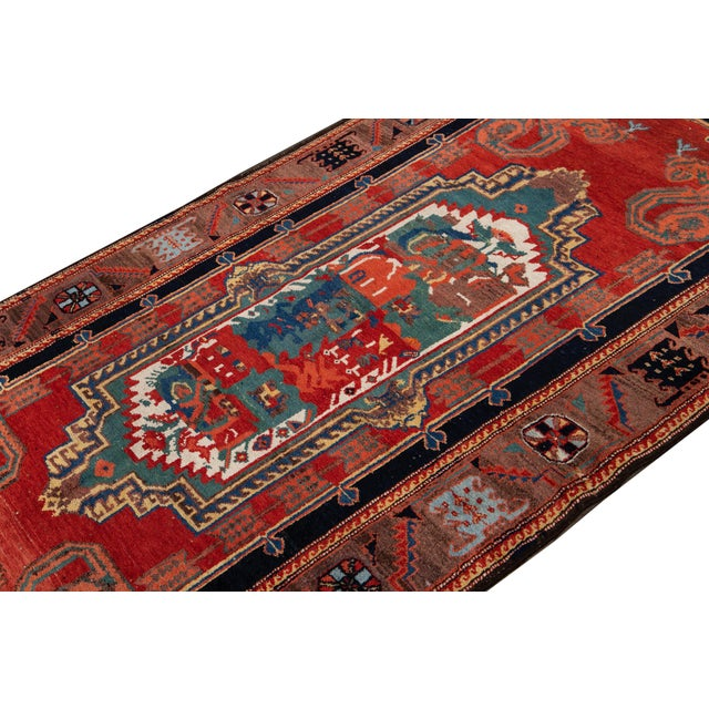 Mid-20th Century Vintage Wool Rug 4' 5'' X 8' 8''. For Sale - Image 11 of 13