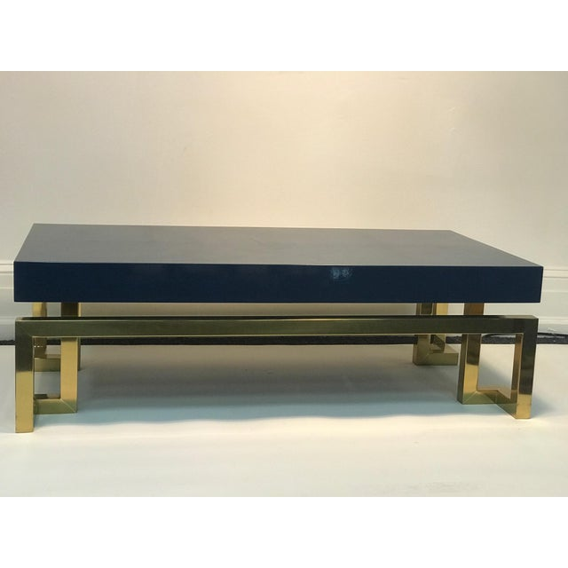 Exceptional Italian Coffee Table with Greek Key Design For Sale - Image 10 of 10