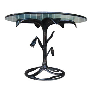 1970s Modern Black Tulip Dining Table For Sale