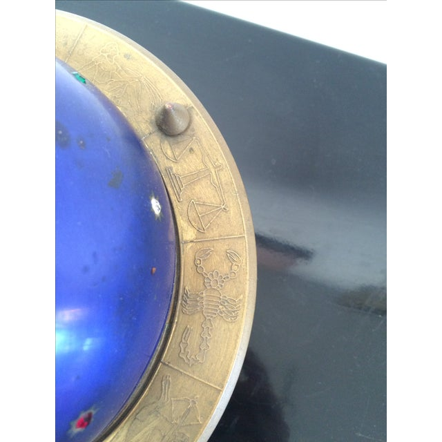 Blue Blue Zodiac Globe Pop-Up Cigarette Holder For Sale - Image 8 of 8