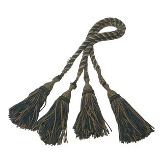 Set of 19th Century French Tassels With Rope Tie Backs For Sale