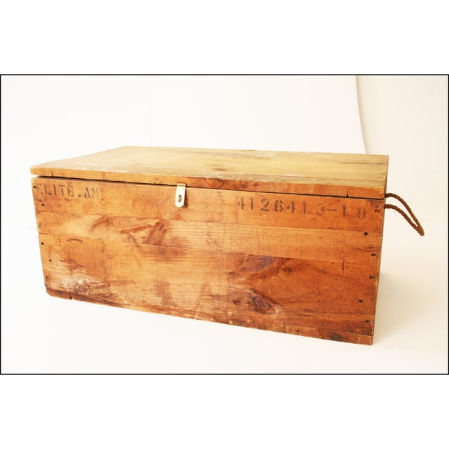 Vintage Rustic Underwood Typewriter NYC Wood Storage Crate - Image 2 of 11