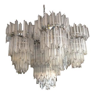 1970s Boho Chic Huge Lucite Waterfall Chandelier For Sale