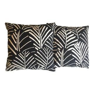 Marimekko Rare Vintage 1970's Mid Century Scandinavian Modern Throw Pillows - a Pair For Sale