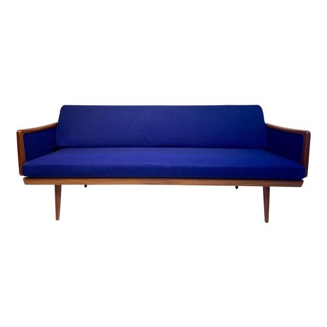 Mid Century Modern Peter Hvidt and Orla Mølgaard for John Stuart Teak & Cane Back Sofa For Sale