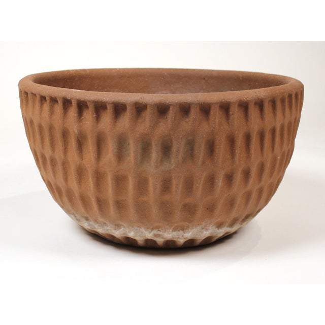 Mid-Century Modern Stan Bitters Ceramic Thumb Pot Planter for Hans Sumpf With Original Saucer For Sale - Image 3 of 8