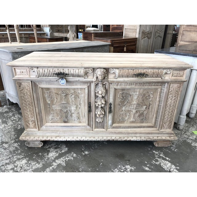19th Century Italian Walnut Carved Buffet For Sale - Image 11 of 11