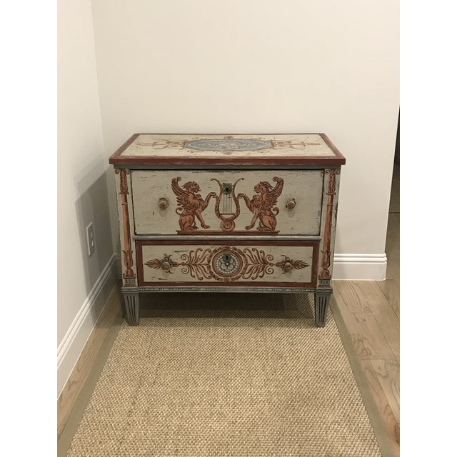Wood 18th Century Traditional Hand Painted Commode For Sale - Image 7 of 7