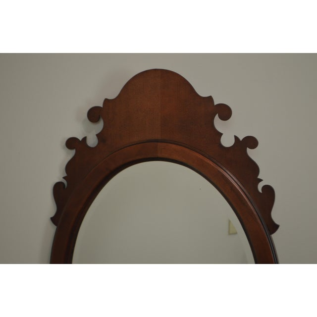 *STORE ITEM #: 19083 Victorian Style Cherry Oval Beveled Wall Mirror AGE / ORIGIN: Approx. 30 years / America DETAILS /...
