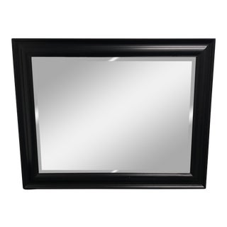 Contemporary Bassett Furniture Black Finish Wooden Wall Mirror
