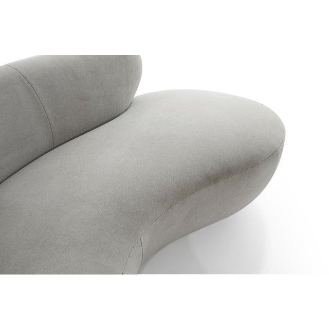 Mohair Cloud Sofa on Walnut Bases by Vladimir Kagan for Directional For Sale - Image 11 of 13