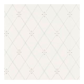 Sample - Schumacher Kasumi Diamond Wallpaper in Mineral For Sale