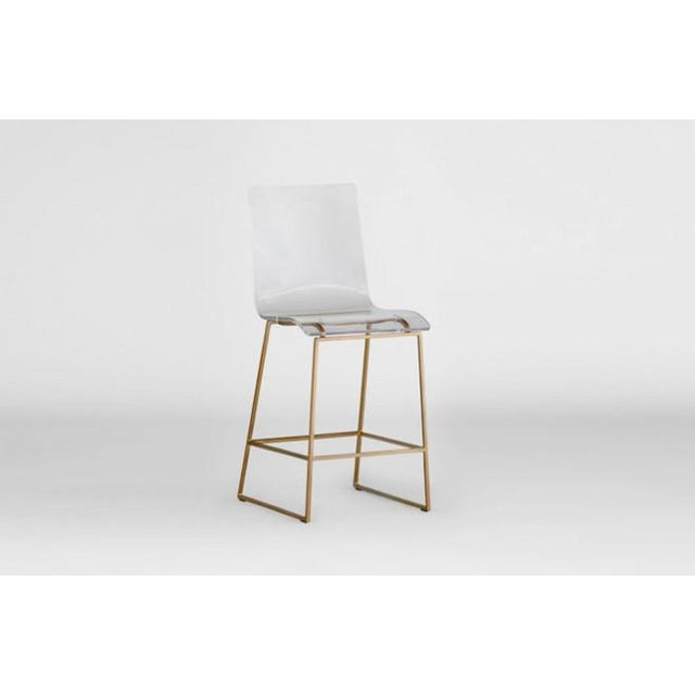 Modern Style Gabby Acrylic King Counter Stools - Set of 4 For Sale - Image 9 of 11
