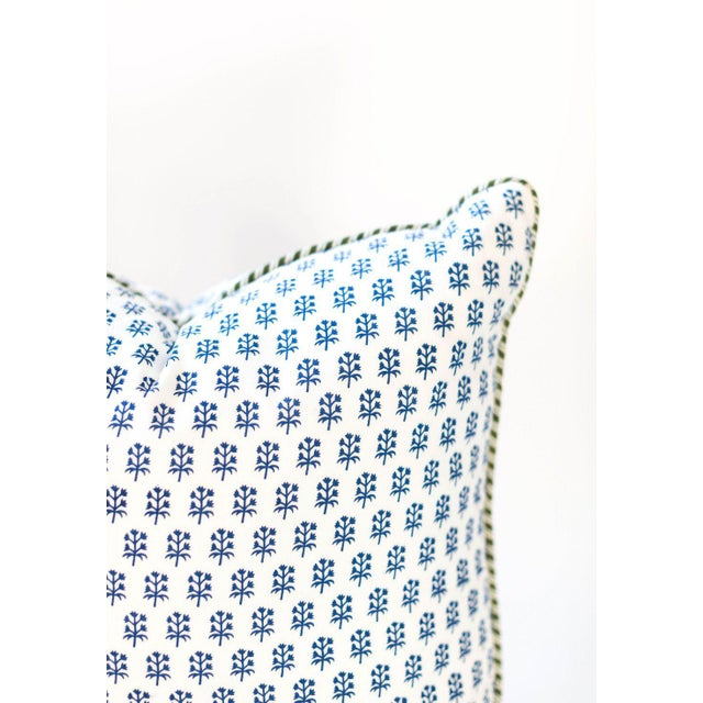 "Indian Dandy Block Print Pillow - 22x22"" For Sale - Image 3 of 4"