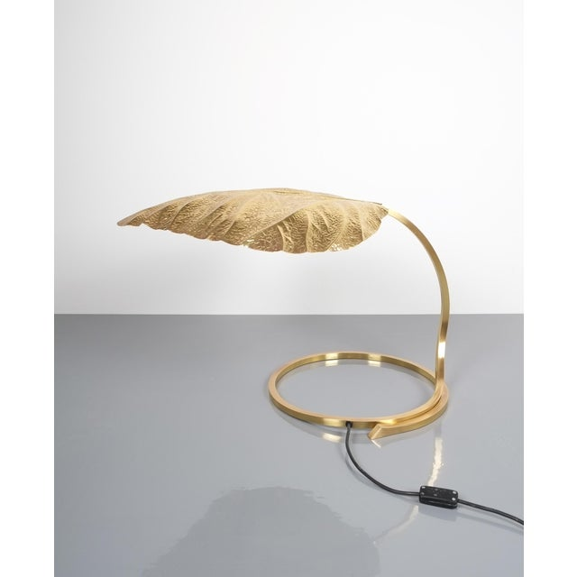Large Pair of Refurbished Brass Rhubarb Table Lamp Tommaso Barbi, Italy, 1970 For Sale - Image 6 of 9