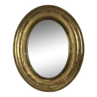French Louis Philippe Oval Convex Mirror For Sale
