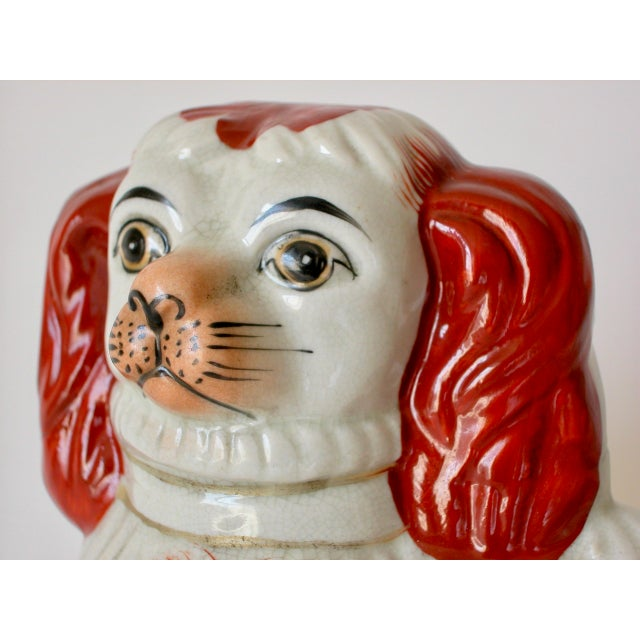 Vintage Mid-Century Staffordshire Style Spaniel Figurines - A Pair For Sale In Los Angeles - Image 6 of 10