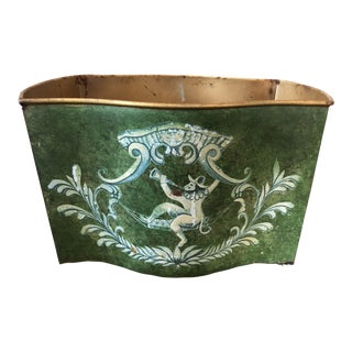 Vintage Monkey Tole Painted Planter For Sale