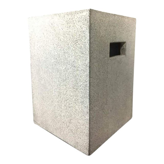 Contemporary Concrete Garden Stool - Image 1 of 7