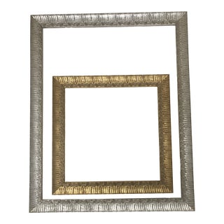 Metallic Frames With Floral Motif - a Pair For Sale