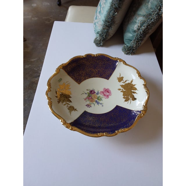 Shabby Chic Large Rosenthal Charger Bowl For Sale - Image 3 of 8