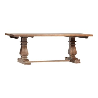 Imani Carved Wood Extendable Table For Sale